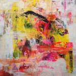 Abstracción inquieta 119. 114 cm x 114 cm. Acrílico sobre lienzo. 2007.