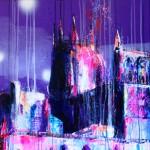 Catedral sumergida VII. 170 cm x 60 cm. Mixta sobre lienzo. 2010