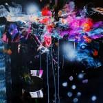 Del paisaje II. Mixta sobre papel. 50 cm x 50 cm. 2010.