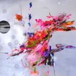 Del paisaje IX. Mixta sobre papel. 50 cm x 50 cm. 2010.