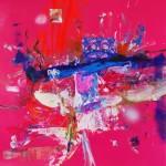 Del paisaje VI. Mixta sobre papel. 50 cm x 50 cm. 2010.