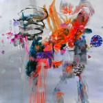 Del paisaje XI. Mixta sobre papel. 50 cm x 50 cm. 2010.