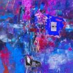 Del paisaje XVI. Mixta sobre papel. 50 cm x 50 cm. 2010.