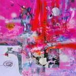 Del paisaje XVII. Mixta sobre papel. 50 cm x 50 cm. 2010.