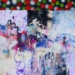 Del paisaje XVIII. Mixta sobre papel. 50 cm x 50 cm. 2010.