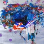 Del paisaje XX. Mixta sobre papel. 50 cm x 50 cm. 2010.
