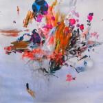 Del paisaje XXI. Mixta sobre papel. 50 cm x 50 cm. 2010.