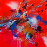 Delicatessen 1. 20 cm x 20 cm. Acrílico sobre lienzo. 2011