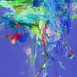 El estanque de las ninfeas I. 146 cm x 73 cm. Acrílico sobre lienzo. 2012.