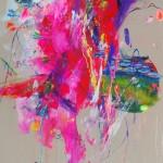 El estanque de las ninfeas V. 146 cm x 73 cm. Acrílico sobre lienzo. 2012.
