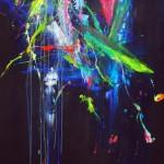 El estanque de las ninfeas VI. 146 cm x 73 cm. Acrílico sobre lienzo.2012.