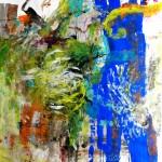 El placer de los extraños amantes en el jardín 221. Mixta sobre papel. 134 cm x 100 cm. 2008.