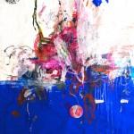 El placer de los extraños amantes en el jardín 222. Mixta sobre papel. 134 cm x 100 cm. 2008.