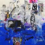 El placer de los extraños amantes en el jardín 67. Mixta sobre papel. 134 cm x 100 cm. 2007