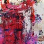 El placer de los extraños amantes en el jardín 70.Mixta sobre papel. 134 cm x 100 cm. 2007.