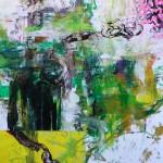 El placer de los extraños amantes en el jardín 71. Mixta sobre papel. 134 cm x 100 cm. 2008.