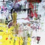 El placer de los extraños amantes en el jardín 72. Mixta sobre papel. 134 cm x 100 cm. 2008.