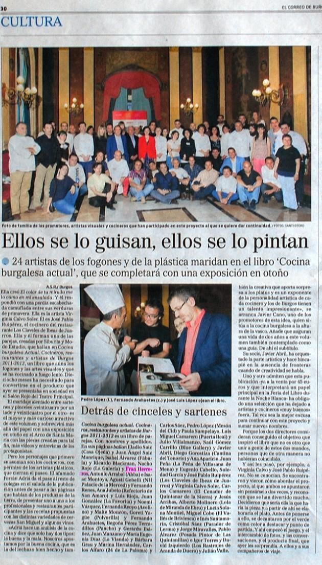 Ellos se lo guisan, ellos se lo pintan. El Correo de Burgos, mayo de 2011.
