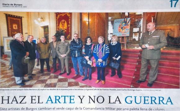 Exposición Capitanía. Foto de Artistas. Diario de Burgos, mayo de 2012.