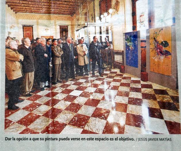 Exposición de Capitanía. Fran Herreros explicando su obra. Diario de Burgos, mayo de 2012.