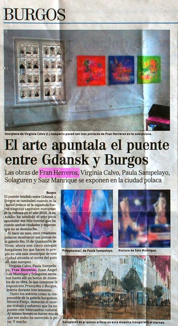 Exposición en Polonia. El Correo de Burgos, julio de 2011.