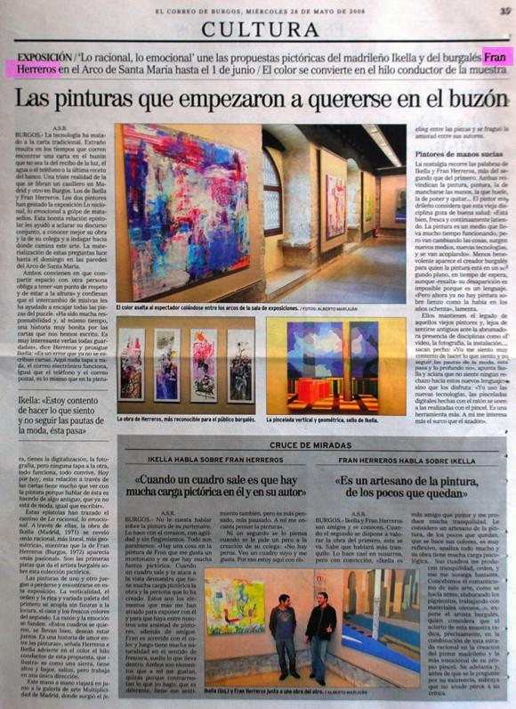 Fran Herreros & Ikella. El Correo de Burgos, mayo de 2008.