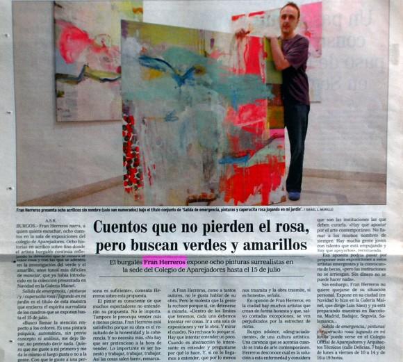 Fran Herreros en la sede de Aparejadores. El Correo de Burgos, junio de 2005.