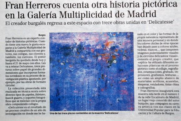 Fran Herreros estrena en Madrid. El Correo de Burgos, marzo de 2009.
