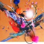Giverny 14. 20 cm x 20 cm. Acrílico y mixta sobre lienzo. 2012.