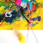 Giverny 15. 20 cm x 20 cm. Acrílico y mixta sobre lienzo. 2012.