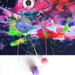 Giverny 18. 20 cm x 20 cm. Acrílico y mixta sobre lienzo. 2012.