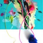 Giverny 19. 20 cm x 20 cm. Acrílico y mixta sobre lienzo. 2012.