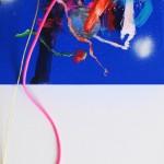 Giverny 25. 20 cm x 20 cm. Acrílico y mixta sobre lienzo. 2012.