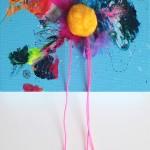 Giverny 28. 20 cm x 20 cm. Acrílico y mixta sobre lienzo. 2012.