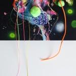 Giverny 36. 30 cm x 30 cm. Acrílico y mixta sobre lienzo. 2012.