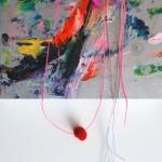 Giverny 38. 30 cm x 30 cm. Acrílico y mixta sobre lienzo. 2012.