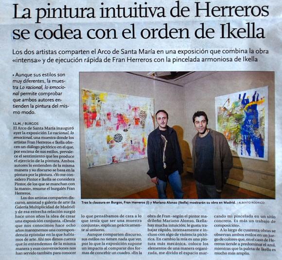 Herreros & Ikella. Diario de Burgos, mayo de 2008.