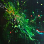 Ninfeas en verde II. 146 cm x 146 cm. Acrílico sobre lienzo. 2012