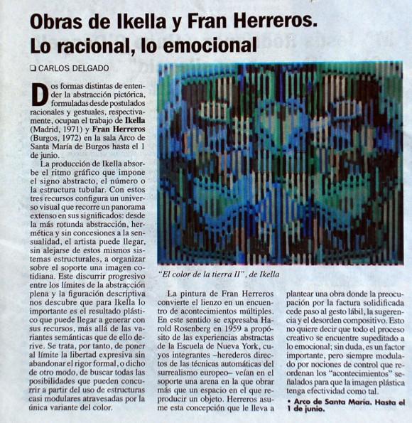 Obras de Ikella y Fran Herreros. El Punto de las Artes, mayo de 2008.