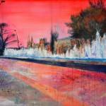 Sobre Burgos IV. 100 cm x 65 cm. Acrílico sobre lienzo. 2011