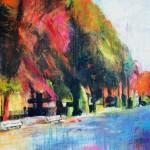 Sobre Burgos IX. 146 cm x 73 cm. Acrílico sobre lienzo. 2011