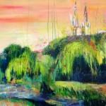 Sobre Burgos VIII. 146 cm x 73 cm. Acrilíco sobre lienzo. 2011