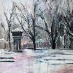 Sobre Burgos XXI. 81 cm x 54 cm. Acrílico sobre lienzo. 2011