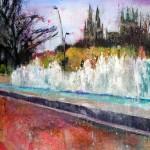 Sobre Burgos XXII. 81 cm x 54 cm. Acrílico sobre lienzo. 2011