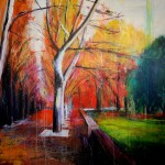 Sobre Burgos XXVIII. 146 cm x 146 cm. Acrílico sobre lienzo. 2011