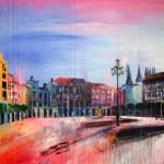 Sobre Burgos XXX. 146 cm x 146 cm. Acrílico sobre lienzo. 2011