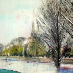 Sobre Burgos XXXI. 146 cm x 146 cm. Acrílico sobre lienzo. 2011