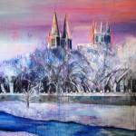 Sobre Burgos XXXII. 146 cm x 146 cm. Acrílico sobre lienzo. 2011