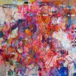 Sobre el deporte. 180 cm x 180 cm. Acrílico sobre lienzo. 2007.