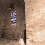 Cartel de la exposición en el Arco de Sta. María.